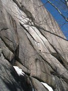 Rock Climbing Photo: Arch right of Black Flies. This feature connects i...