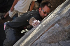Rock Climbing Photo: Solid crimp.