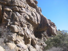Rock Climbing Photo: A.S.S. goes over the large roof to the right of Sh...