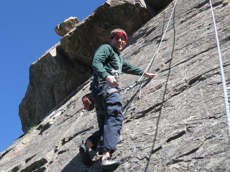Rock Climbing Photo: Just hanging out at Lookout Mtn crag