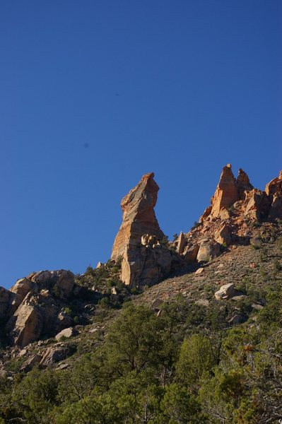 Eagle Crag, the 4-pitch horn near Zion National Park