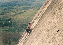 Rock Climbing Photo: Shari leading the crack