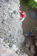 Rock Climbing Photo: David Larsen on the lower arete of Two Times Arete...