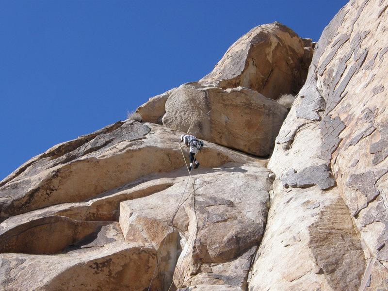 Rock Climbing Photo: Todd Gordon on the crux mantle of Leon Redbone.