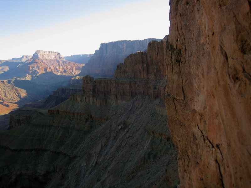 Rock Climbing Photo: Redwall section of NW ridge