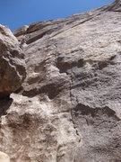 Rock Climbing Photo: Unknown crack climb/seam/to bolt 15' left of Perfe...