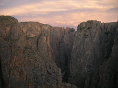 Rock Climbing Photo: Sunset in the Black, photo taken from the second t...