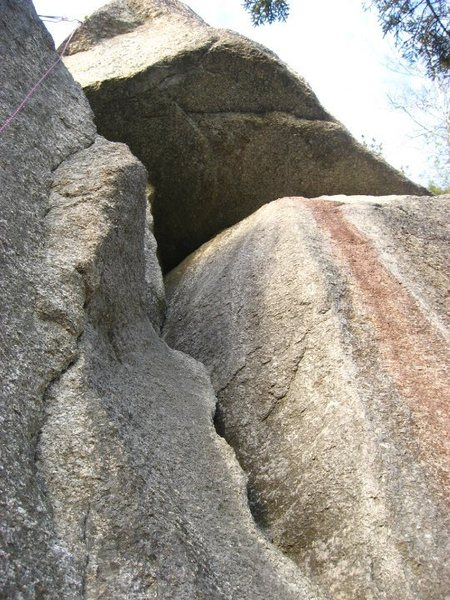 """Rock Climbing Photo: Looking up """"Easy Stuff.""""  The anchor is ..."""