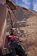 Rock Climbing Photo: Right before my first full trad lead, Twin Cracks(...