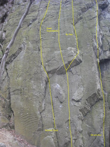 Rock Climbing Photo: Solution crack face of the Northwest Buttress