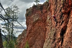 Rock Climbing Photo: Krista enjoying the fun upper part of the route. M...