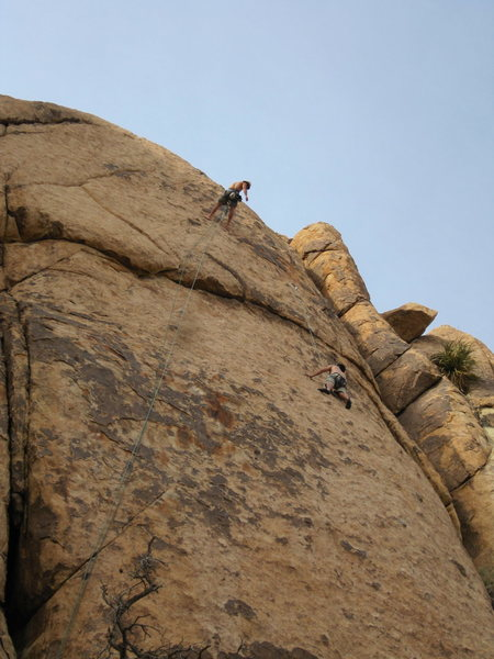 Dos Chi Chis top belaying from 1st anchor point