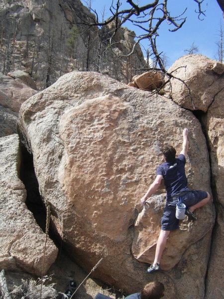 Rock Climbing Photo: Misha Z. cruising.