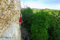 Rock Climbing Photo: Ted Kryzer on Living All Over Me. May 2010.