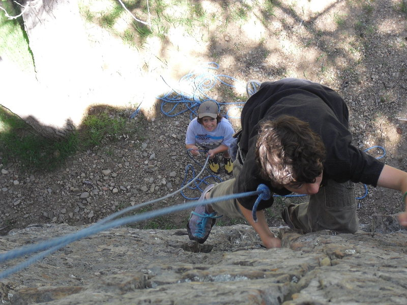 Rock Climbing Photo: Mitchell Boring (age 11) having a go at the Beginn...