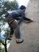 "Rock Climbing Photo: Trying ""Slap you Silly"""