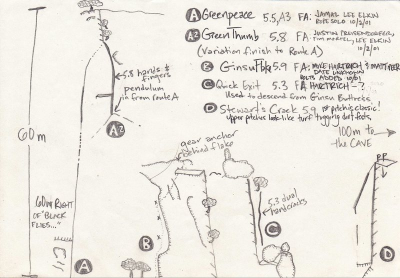 Preisendorfer's Topo #2 from the IME New Route Book _ from Greenpeace to Stewart's Crack