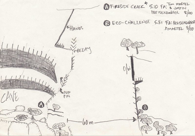 Preisendorfer's Topo #3 from the IME New Route Book- Fireside Crack and Eco-Challenge