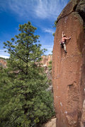 Rock Climbing Photo: DisturbingThePeace nabbing the redpoint after a 4 ...