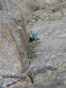 "Rock Climbing Photo: Phil Lauffen making his way up the ""10+""..."