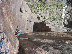 Rock Climbing Photo: Looking down the upper part of what we climbed as ...