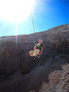 Rock Climbing Photo: Karsten channels his superfly while lowering off p...
