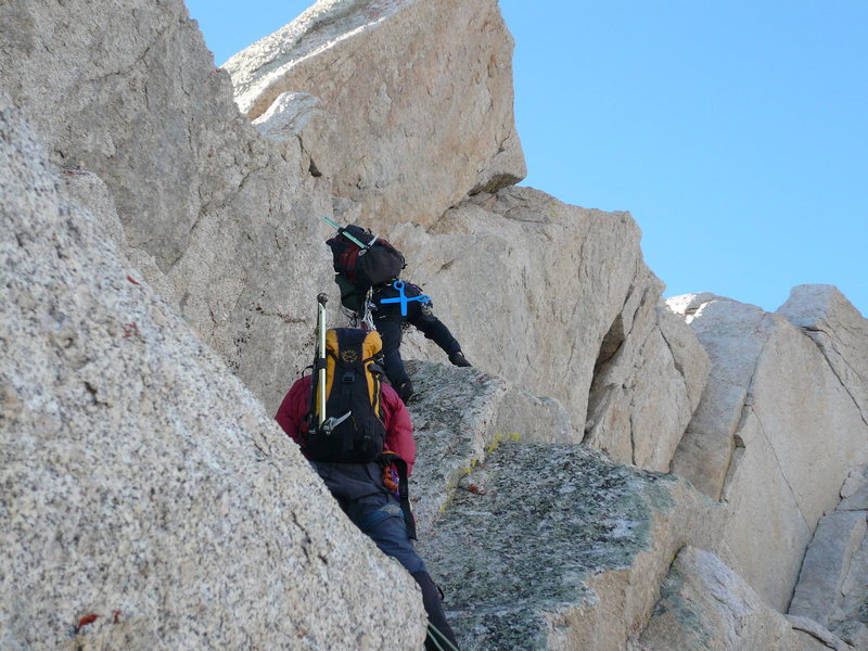 Rock Climbing Photo: Winter ascent of the complete NRLPP