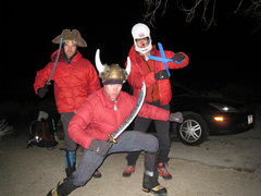 Rock Climbing Photo: Gearing up for a winter ascent of the complete NRL...