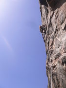 Rock Climbing Photo: Aaron headed up the 1st pitch, there is a terrible...