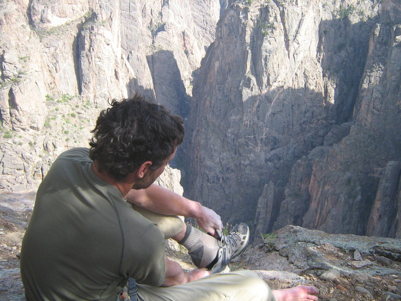Rock Climbing Photo: end of the day in the black canyon.