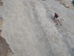 Rock Climbing Photo: Tucker Tech on pitch one of Split Tail