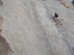 Rock Climbing Photo: Tucker Tech on pitch one of Split Tail