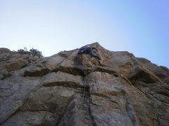 Rock Climbing Photo: The crux move left....