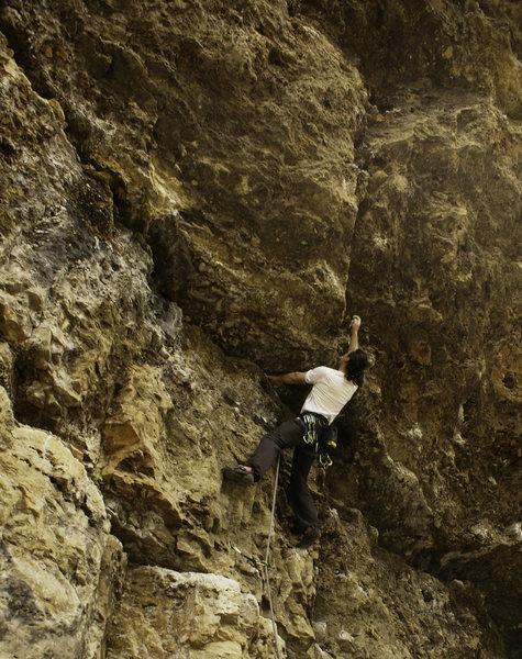 Rock Climbing Photo: the shallow corner
