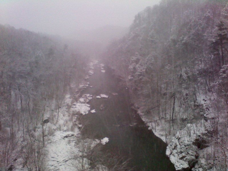 Roanoke River Gorge enduring our big snow!