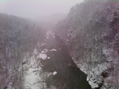Rock Climbing Photo: Roanoke River Gorge enduring our big snow!