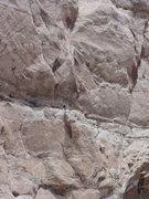 Rock Climbing Photo: Tele photo starting the second pitch. Photo. Dan M...