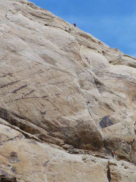Rock Climbing Photo: Lance at the top of the 190'5.10 pitch,Paul on the...