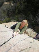 Rock Climbing Photo: Lauren styling the splitter crack on the main Gran...
