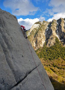 Rock Climbing Photo: T-Rizzle hanging in there