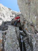 Rock Climbing Photo: Chris Sheridan climbing the upper corners of Adapt...