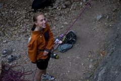 Rock Climbing Photo: Belaying in Tensleep Wy
