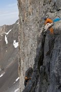 Rock Climbing Photo: Belay Ledge on the Innominate-  Wyoming