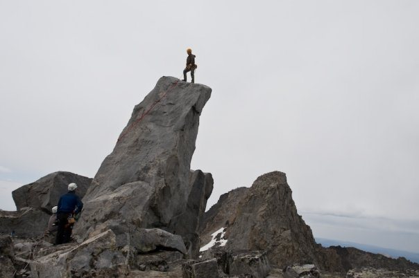 Rock Climbing Photo: Summit Block on top of the Innominate