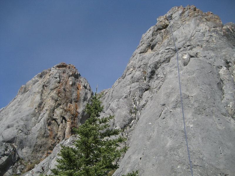 Rock Climbing Photo: another shot of Sandbag, Twin Towers
