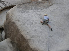 Rock Climbing Photo: On the slab section of Lubricated Goat.