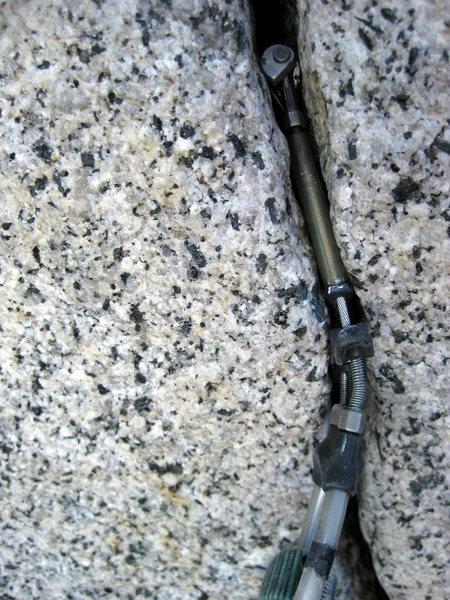 "Rock Climbing Photo: ""Wedged"" C3 on Serenity Crack"