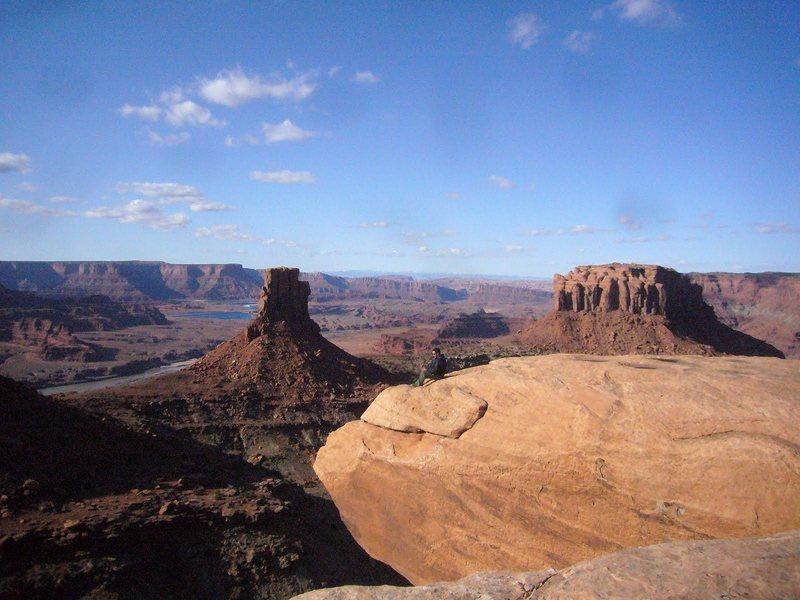 Rock Climbing Photo: Lance enjoying the view. Photo: Jay Miller