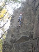 Rock Climbing Photo: Mindy climbing the 5.7 face, Main Wall