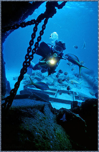 For climbers who dive, there is expansive underwater terrain to explore.  Taken at the sunken wreck M/V Keith Tibbets about 300 yards off of Buccaneer Slip.